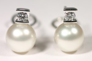 pendientes clasicos perla